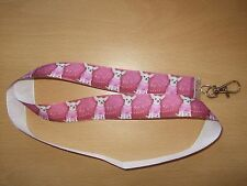 Handmade Chihuahua Lanyard Walking Ribbon Dog Puppy Whistle Training Clicker ID