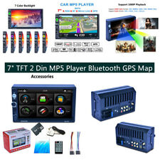 "7"" 2Din Car Stereo Radio Player GPS Nav Bluetooth w/ Free Map of North America"