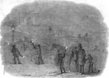 LONDON. A London Fog, antique print, 1847