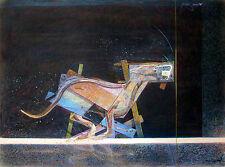 """Masoud Yasami """"Greyhound,"""" 1977, Mixed Media Drawing"""
