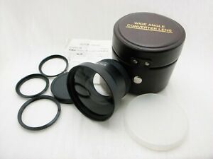 [Mint] Calux Wide Angle Converter Lens with Case & Adapter Ring from Japan #404