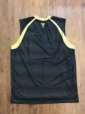 Vintage Nike Center Swoosh Kobe Jersey RARE XL 100% Authentic Black Yellow