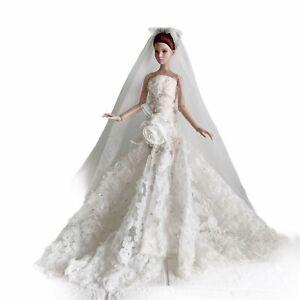 OOAK Wedding dress with veils Toner Tyler 16 inches doll handmade item no.5