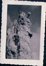 VERA FOTO ALPINISTI SCALATORI SU PICCO NEGLI  ANNI '30 7-50