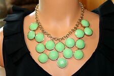 """Kate Spade New York """"Connect Four"""" Faceted Bauble Statement Necklace Lime Green"""