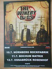 THE WINERY DOGS 2014 TOUR  ++  orig.Concert Poster - Konzert Plakat  A1  NEU