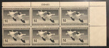 Tdstamps: Us Federal Duck Scott#Rw14 Mint Nh Og Couple Perfs Separated, P#Block
