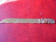 Abrecartas antiguo oriental de bronce (antique letter opener, coupe papier)