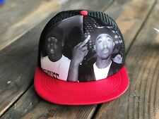 Trucker Hat SnapBack Adjustable Strap Tupac 2Pac Notorious BIG Biggie RED/BLACK