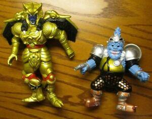 Vintage 93' Mighty Morphin Power Rangers Villain's  Lot Of 2 - *SQUATT & GOLDAR*
