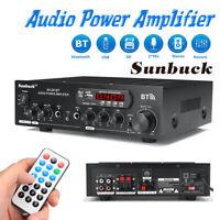 2000W bluetooth 2CH Power Amplifier AMP Hi-Fi Home Stereo FM Radio SD USB  W