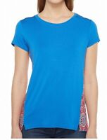 Tribal Womens Knit Top Diva Blue Size Large L Jersey Mixed-Media $49 364