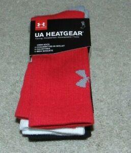 ~3 NWT Boys UNDER ARMOUR Heatgear Crew Socks! Size 13.5K-4Y Nice*