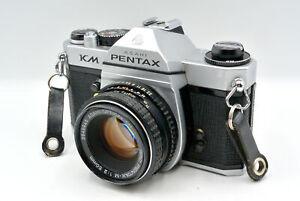 Pentax KM 35mm SLR Manual Focus Camera Kit w/ 50mm Lens - Very Good