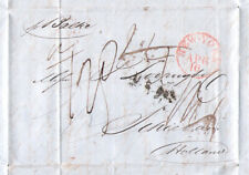 1851-1dz LOOPUYT gin TRANSATLANTIC New York to Schiedam Holland stampless letter