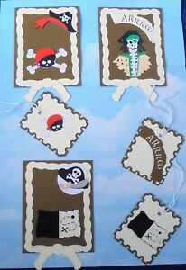 *SALE*   Card Topper and   gift tag handmade x 3 pirate treasure birthday
