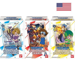 DIGIMON CARD GAME - Starter Deck Gaia Red, Cocytus Blue & Heaven's Yellow [ENG]