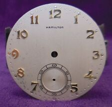 39.15MM Hamilton 10 size 917 921 923 Pocket Watch Dial~Solid Gold Hour markers