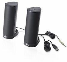 Genuine Dell AX210 Black Multimedia Stereo Speakers USB Powered PC Laptop Mac