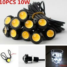 10 pcs Eagle Eye COB Amber LED Lamp For Car Motorcycle Running DRL Tail/Head