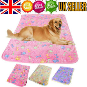 Pet Dog Cat Rest Blanket Puppy Kitten Fleece Cushion Soft Sleeping Bed Warm UK