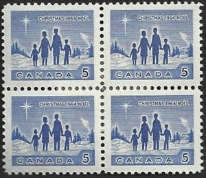 Canada  # 435 Block  Star of Bethlehem   VFNH  Brand New 1964 Pristine Issue