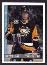 1992-93  OPC HOCKEY , # 102 , JAROMIR JAGR , PITTSBURGH PENGUINS
