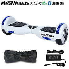 """Megawheels 6.5""""Bluetooth Hoverboard White Electric Self Balancing Scooter UL+LED"""