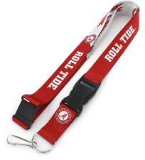 Alabama Crimson Tide Logo NCAA Slogan Lanyard Key Ring Keychain w/ Safety Clip