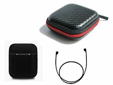Zotech Accessory Pack for AirPods Black (Airpods Cover, Strap and Carrying Case)