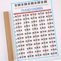 Best Piano Fingering Chord Poster Wall Chart Christmas Gift For Piano Player US