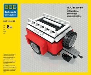LEGO BOC-BR Gepäck Anhänger Rot für LEGO VW T1 10220 Camper NEU!