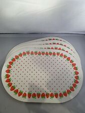 New listing Four Strawberry Placemats