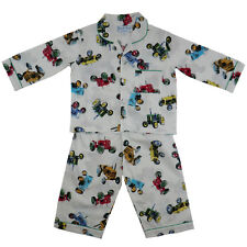Blue Striped Powell Craft Boys Cotton Pyjamas NEW Louis 1-9 Years.