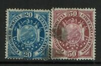 Bolivia SC# 44 and 45, Used, some toning - S12119