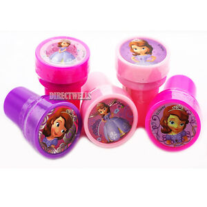 Princess Sofia Authentic Licensed 10 Self Inking Stampers Goodie Bags Fillers