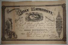 1877 Brooklyn Matrimonio Certificado - John B. Smith & Charlotte R.Marrón