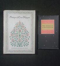Lot 2 Books Rubaiyat Omar Khayyam Illustrated Dulac Persia Poet Literature 1952