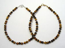 Anklet Silver or Gold Lyn's Jewelry Tiger's Eye