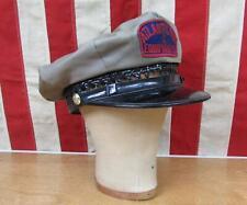 Vintage 1940s Atlantic Tug & Equipment Co. Cap Uniform Hat Tugboat Marine 7 1/8
