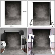 Retro Grey Cloth Backdrop Photography Studio Props Photo Background 150x300cm O5