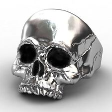 NEW Evbea signet Gothic men's Skull Ring -Size P1/2 with Coloured bracelet