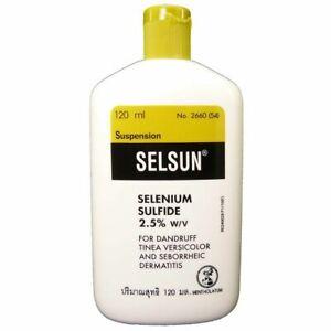Selsun Selensulfid 2,5% Antischuppen Schuppen Shampoo Juckende Kopfhaut 120 ML