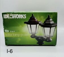 New listing *IdeaWorks Solar Lanterns Powered Outdoor Lights Lamp Pole Stake or Wall Mount