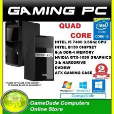 INTEL QUAD CORE 3.5Ghz GAMING PC 8GB ram 2tb HDD GTX-1050 Graphics DVD/RW   FF