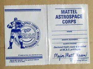 MATTEL ASTROSPACE CORPS Matt Mason Club Vinyl Wallet 1969 Giveaway MINT UNUSED