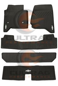 2015-2020 Tahoe Front & 2nd & 3rd Row & Cargo All Weather Floor Mats Black