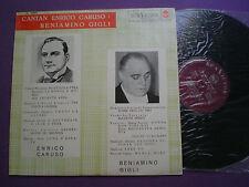 ENRICO CARUSO Y BENIAMINO GIGLI Cantan...SPAIN LP 1962 NM