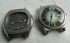 2 Vintage Men's Seiko 17 Jewel Automatic Watches 4 REPAIR 7025-5000 & 7006-8029