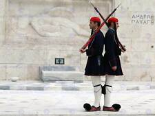 EVZONES OR TSOLIADES PALACE GUARDS ATHENS GREECE PHOTO ART PRINT POSTER BMP470A